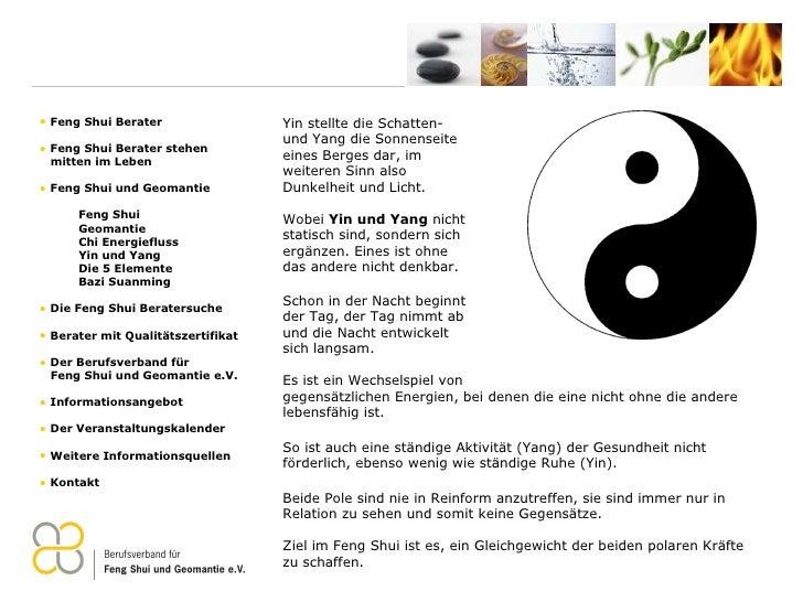 Feng Shui Verband feng shui praesentation