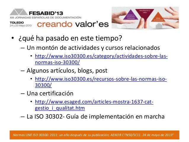 Publicadas las Normas UNE-ISO y UNE-ISO