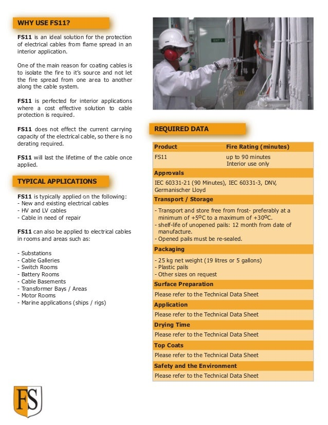 Cable Fire Protection - Cable Coating | Technical Guide Download