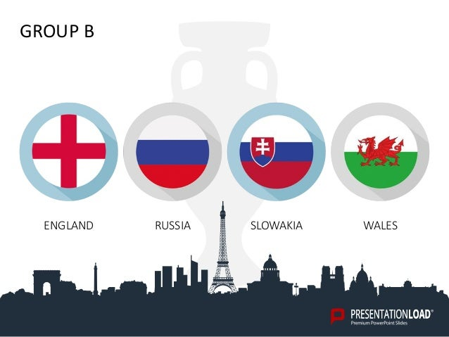 Free powerpoint template euro 2016 group b england russia slowakia wales toneelgroepblik Images