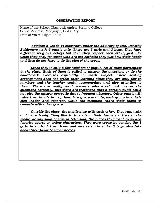 high school classroom observation essay Classroom observation #1  jw sexton high school grade/subject: 12th grade composition  to improve the essay and which areas to focus on as a proofreader for.