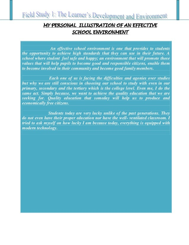 Characteristics of school environment essay
