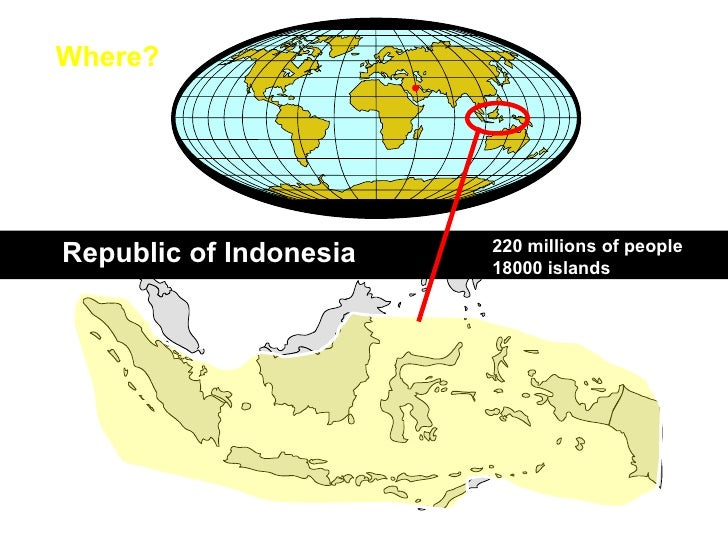 Where? 220 millions of people  18000 islands Republic of Indonesia