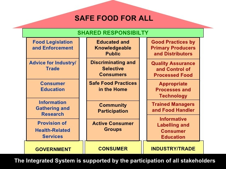 The Integrated System is supported by the participation of all stakeholders CONSUMER GOVERNMENT INDUSTRY/TRADE SHARED RESP...