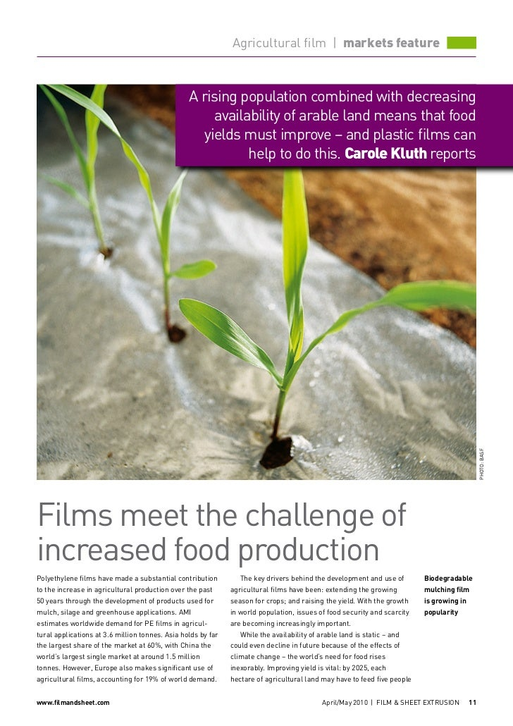 Agricultural film | markets feature                                                 A rising population combined with decr...