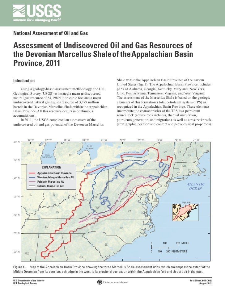 National Assessment of Oil and GasAssessment of Undiscovered Oil and Gas Resources ofthe Devonian Marcellus Shale of the A...