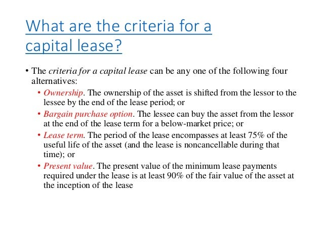 capital lease definition