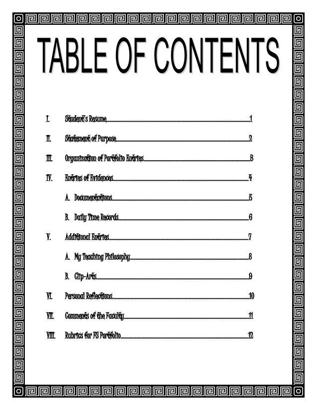 cover page for resume portfolio