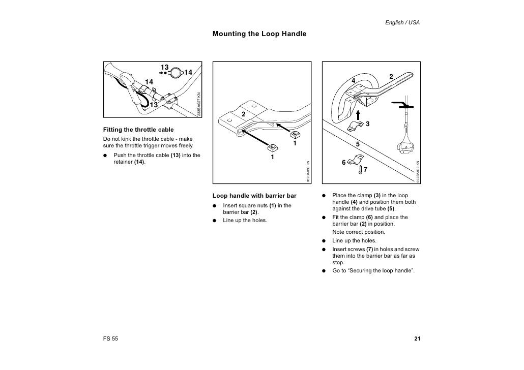 Stihl fs55/fs55t instruction & oem oem owners manual: stihl fs55.