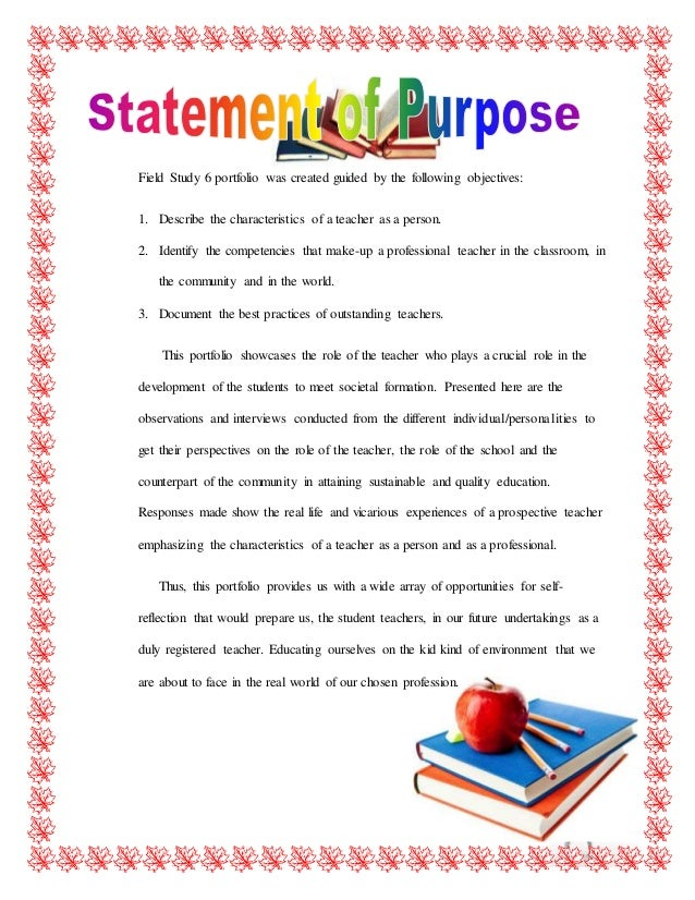 field study 6 on becoming a teacher For me, the attributes that the teacher should possess were centered into the two qualities of a teacher: professional and personal first is with intelligence and reliability (professional.