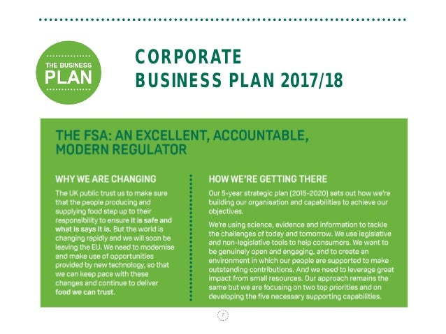 Planned giving business plan