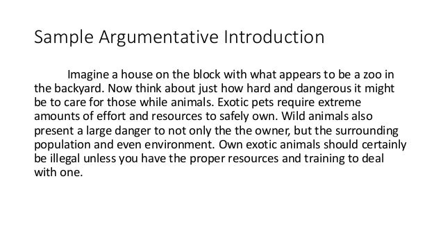 5 Sample Argumentative Introduction