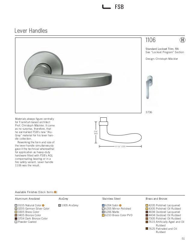 fsb 04 levers. Black Bedroom Furniture Sets. Home Design Ideas