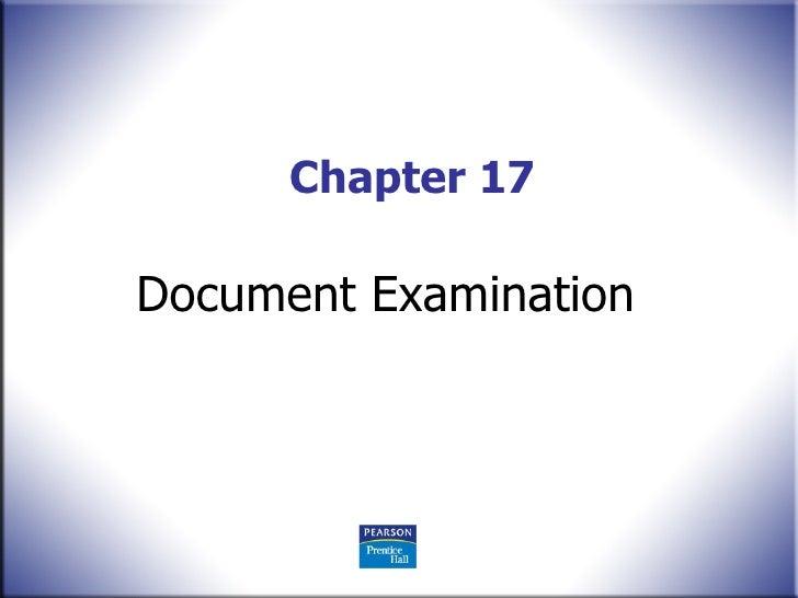 Chapter 17 Document Examination
