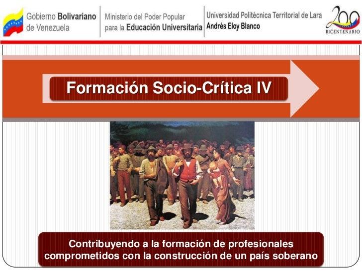 Contribuyendo a la formación de profesionales comprometidos con la construcción de un país soberano<br />