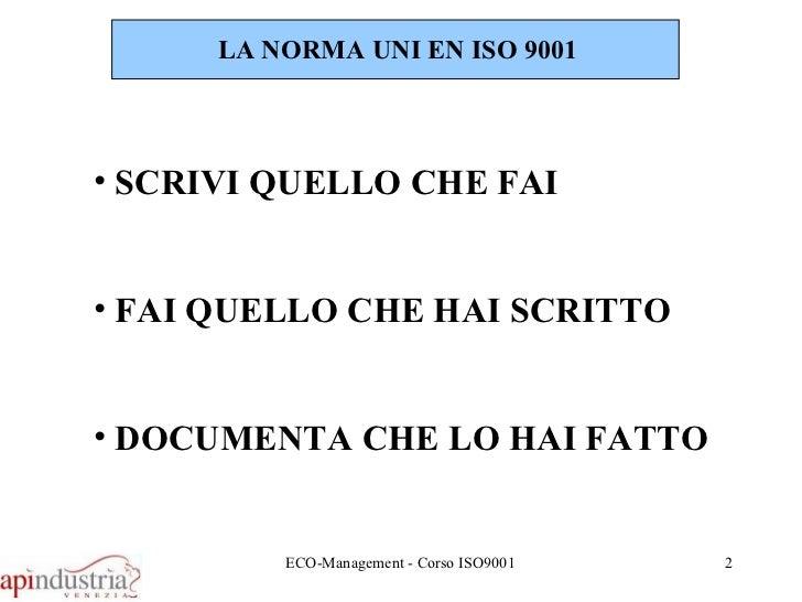 Fse   15 lezione - iso9001 Slide 2