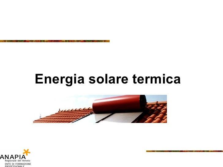 Energia solare termica
