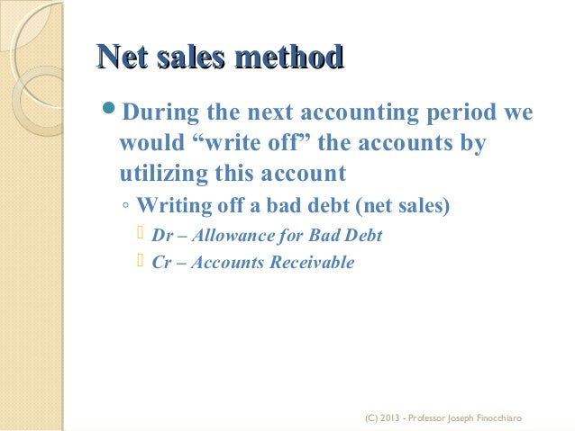 the methods for establishing and maintaining an allowance for bad debt accounts Two parts:estimating allowance for doubtful accountsaccounting for  maintain  an allowance for the default of these so-called doubtful  the ideal consumer  base and estimation process for each method  to record the journal entry and  establish the allowance account, debit bad debts expense for.
