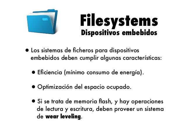 Filesystems cramfs (I)  •cramfs (compressed ROM file system) es un sistema de ficheros de solo lectura, normalmente usado en...