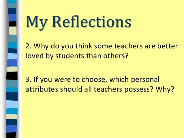 personal attributes of teacher