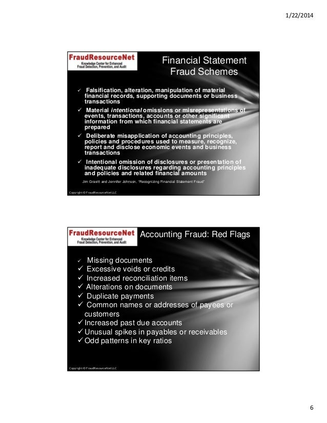 how to detect fraud on financial statements