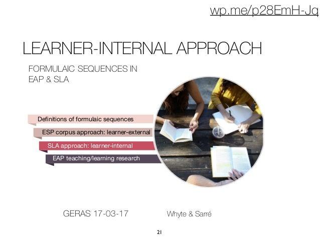 Formulaic Language in Learner Corpora