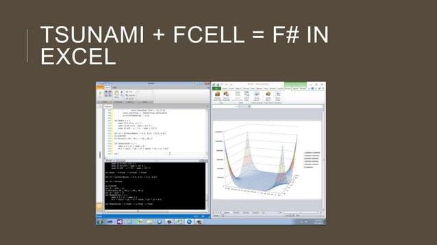 TSUNAMI + FCELL = F# IN EXCEL