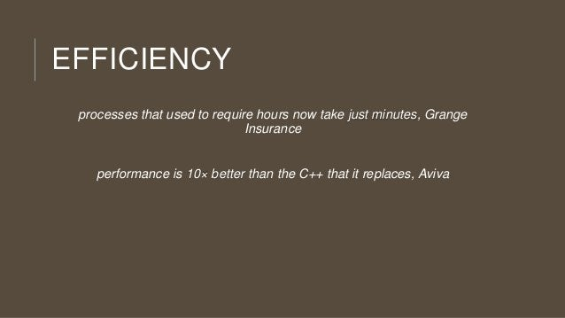 EFFICIENCY processes that used to require hours now take just minutes, Grange Insurance  performance is 10× better than th...