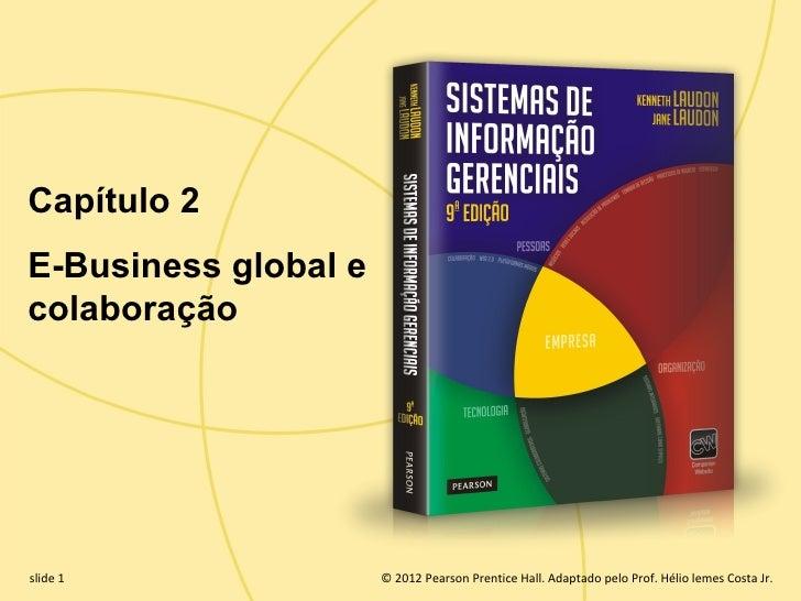 Capítulo 2  E-Business global e  colaboração  slide 1                    © 2012 Pearson Prentice Hall. Adaptado pelo Prof....