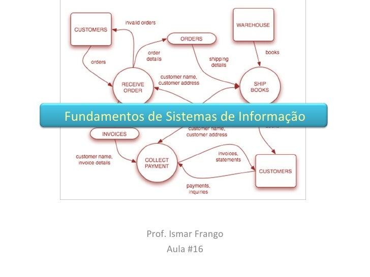 Prof. Ismar Frango Aula #16 Fundamentos de Sistemas de Informação