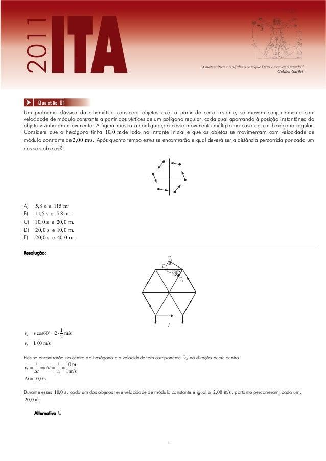 2011              ITA       Questão 01                                                                                    ...