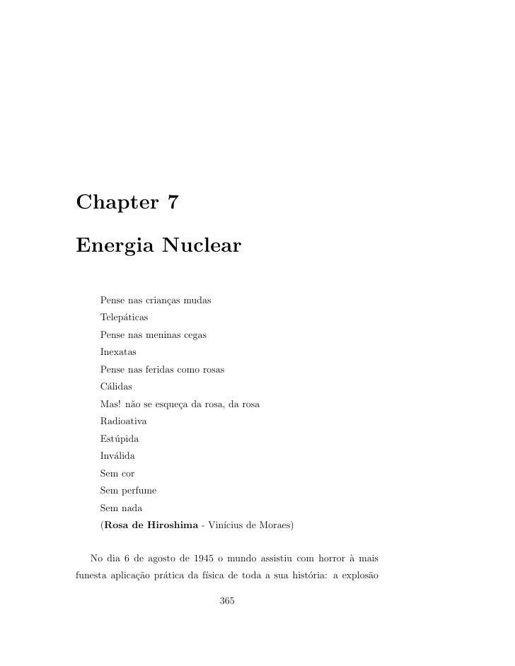 Chapter 7  Energia Nuclear       Pense nas crian¸as mudas                     c      Telep´ticas           a      Pense na...