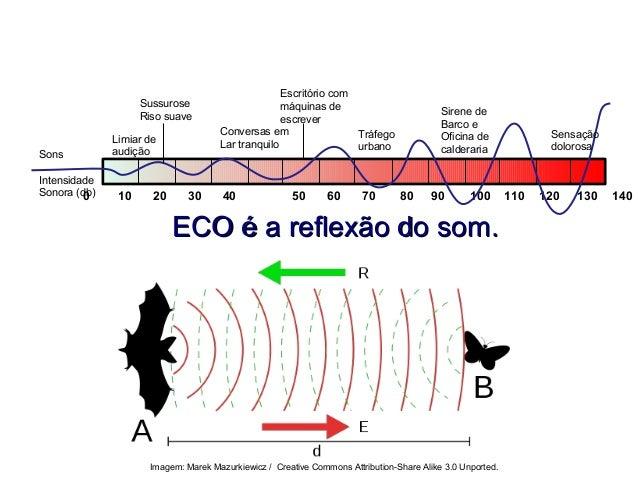 ECO é a reflexão do som.ECO é a reflexão do som. FÍSICA, 2º ANO Tópico – ONDAS SONORAS E EFEITO DOPPLER 0 10 20 30 40 50 6...