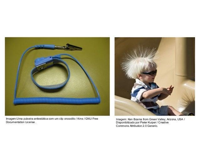 FÍSICA, 3º Ano do Ensino Médio Conservação de Carga Elétrica Imagem:Uma pulseira antiestática com um clip crocodilo / Kms ...