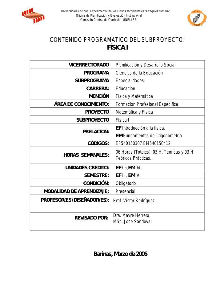 """Universidad Nacional Experimental de los Llanos Occidentales """"Ezequiel Zamora""""                    Oficina de Planificación..."""
