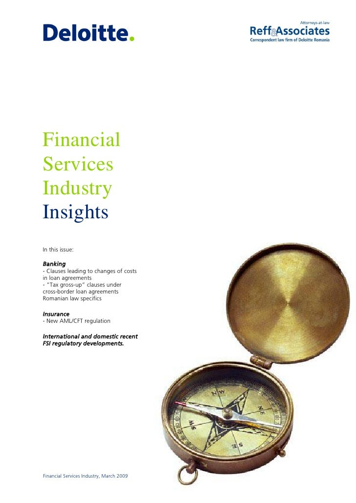 """Financial Services Industry Insights In this issue:  Banking - Clauses leading to changes of costs in loan agreements - """"T..."""