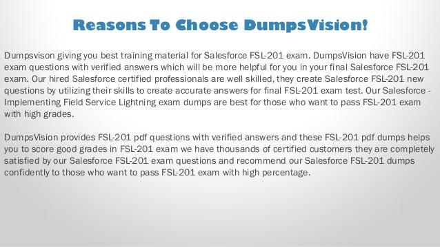 Salesforce Implementing Field Service Lightning Test FSL-201 Exam QA PDF+SIM