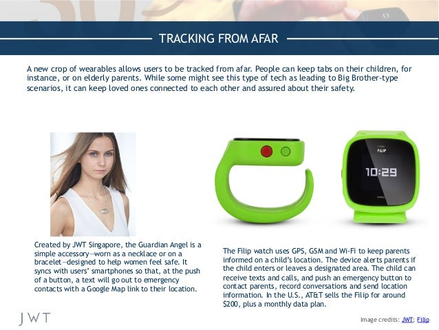 TRACKING FROM AFAR A new crop of wearables allows users to be tracked from afar. People can keep tabs on their children, f...