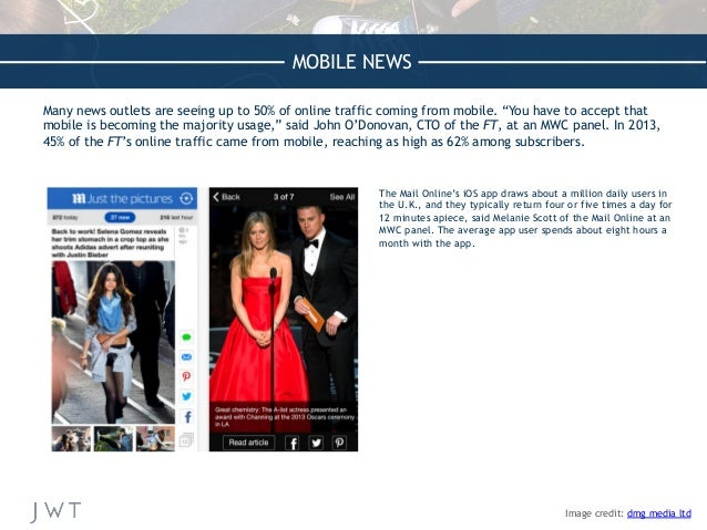 """MOBILE NEWS Many news outlets are seeing up to 50% of online traffic coming from mobile. """"You have to accept that mobile i..."""