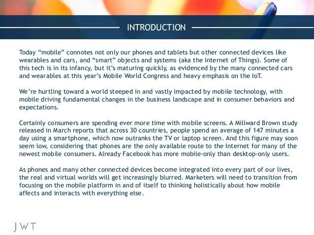 """INTRODUCTION Today """"mobile"""" connotes not only our phones and tablets but other connected devices like wearables and cars, ..."""