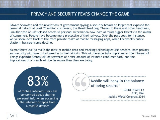 PRIVACY AND SECURITY FEARS CHANGE THE GAME Edward Snowden and the revelations of government spying; a security breach at T...