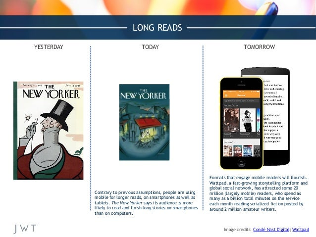 Formats that engage mobile readers will flourish. Wattpad, a fast-growing storytelling platform and global social network,...