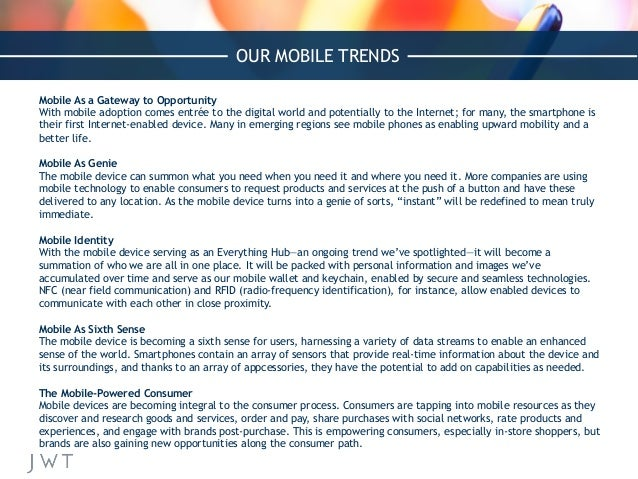 Mobile As a Gateway to Opportunity With mobile adoption comes entrée to the digital world and potentially to the Internet;...