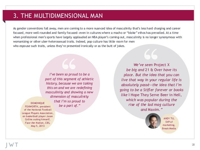 283. THE MULTIDIMENSIONAL MANAs gender conventions fall away, men are coming to a more nuanced idea of masculinity that's ...