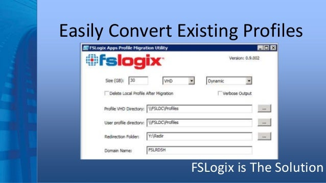 FSLogix BriForum 2015 - Ending the Folder Redirection Debate