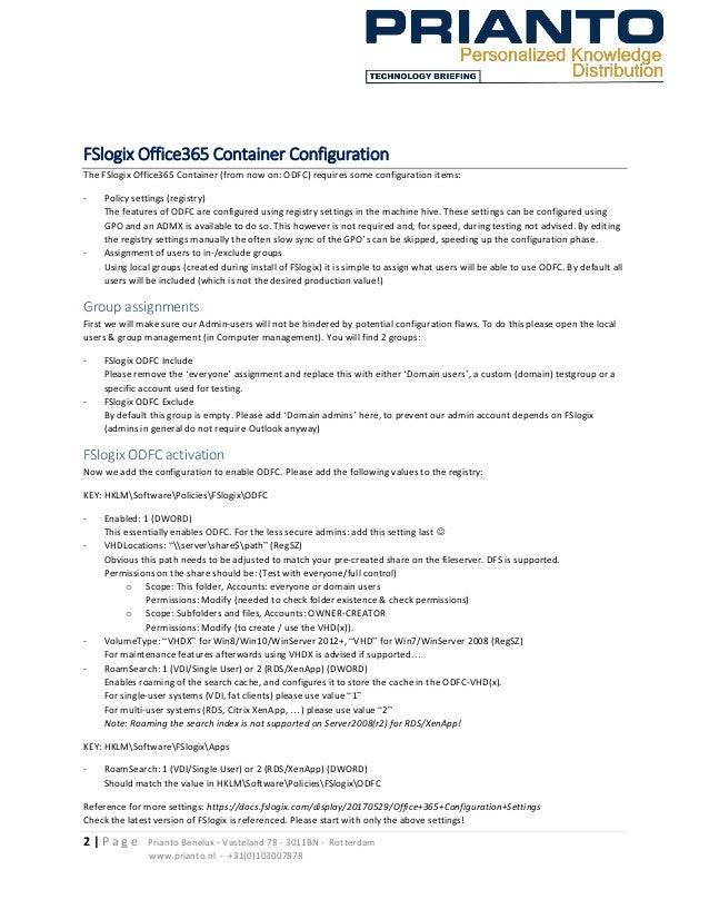 FSlogix ODFC POC Guide (version 1 3)