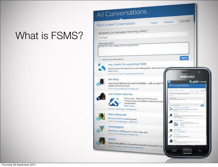 What is FSMS?Thursday 08 September 2011