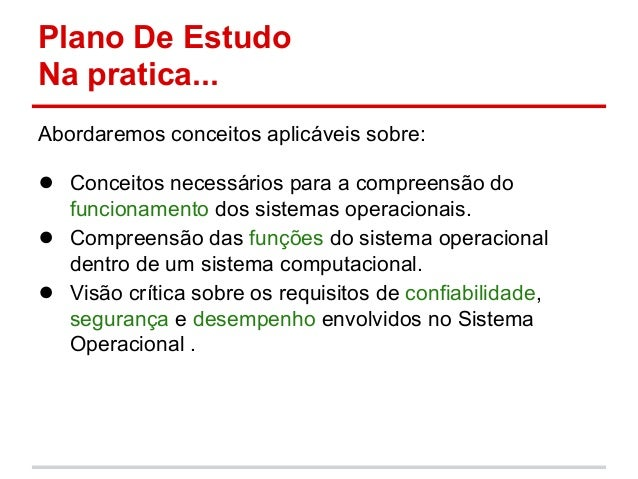 Fundamentos de Sistemas Operacionais - Aula 1 - Introdução à disciplina Slide 3