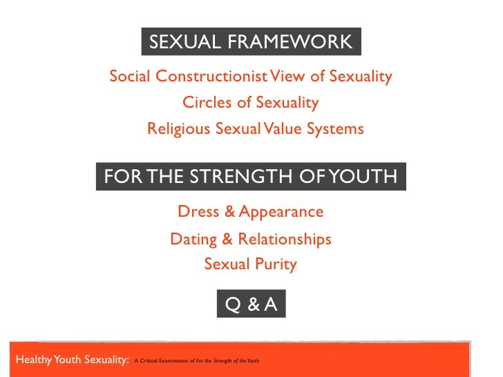 Value systems of sexuality