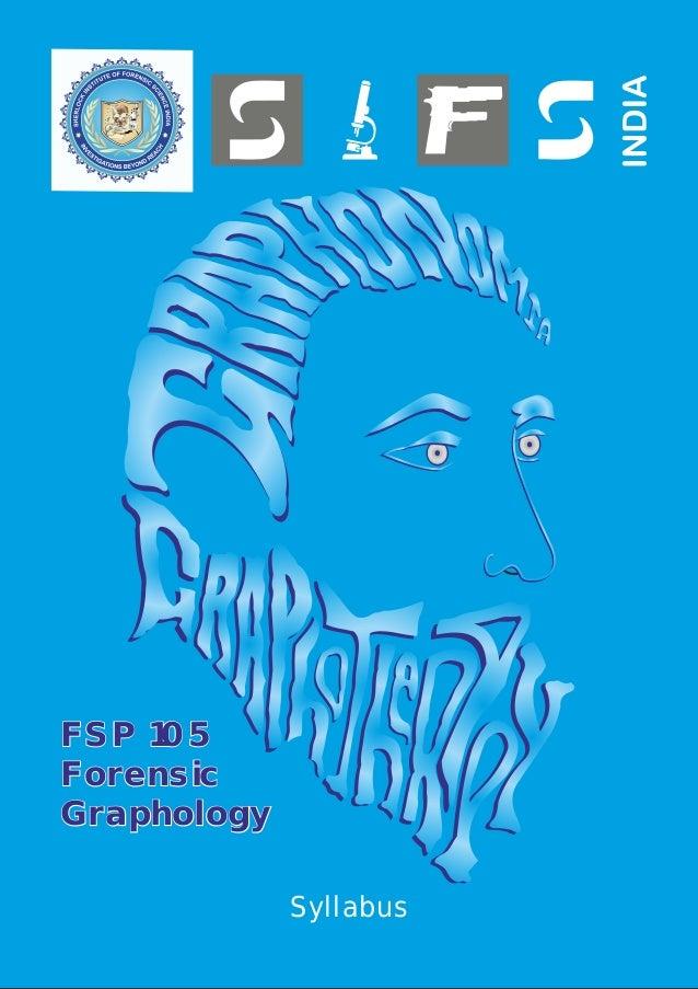 FSP 105 Forensic Graphology Syllabus